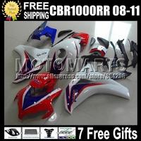 7gifts For HONDA CBR1000RR NEW Blue 2008 2009 2010 2011 CBR 1000 1000RR Q8199 CBR1000 RR Red white blue 08 09 10 11 NEW Fairing