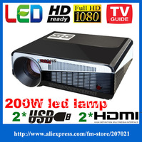Amazing Price ! Led projectors 1080p native 1280*800 DVD TV proyectores video Portable 3D projection 100inch screen hd ready