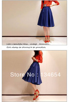 Big brand collection hot sales A umbrella skirt Waist Swing Skirt Vintage Elegance Long Skirts Pleated Skirt Free Shipping