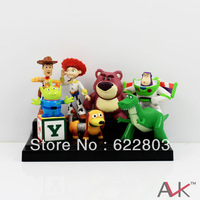 2013 New Arrival hot 8 Mini Toy Story 3 Buzz Lighter Woody Jessie action Figures Dinosaur Lotso Dot Set Free shipping &wholesale