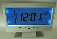 Large screen electronic calendar business gift electronic clock alarm clock blue backlight logo