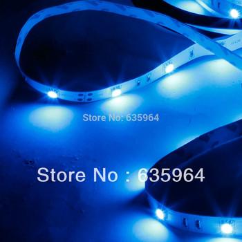 12W SMD3528 5m 150LEDs Blue Light LED Light Strip (White Lamp Plate) (12V)
