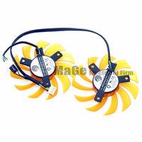 dual fan Power Logic PLD08010S12HH 12V 0.35A 75x75x10mm Frameless graphics card fan
