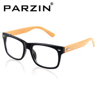 Parzin  Handmade Bamboo Box Glasses Bamboo Glasses Frame Vintage Oversize Bamboo Glasses Plain Mirror Tiger