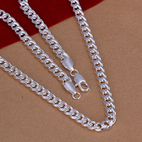 Hot Sale! Free Shipping Wholesale 925 Silver Necklace, 925 silver Fashion Jewelry 7mm/20 Inches Necklace N029