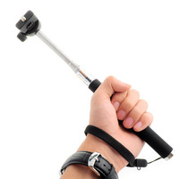 Wholesale 5pcs/lot Self Monopod Extendable Hand Held Tripod Mount Adapter for GoPro Hero 1 2 3 Free Shipping