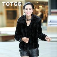 Totgg 2013 Women fight mink fur coat mink fur overcoat