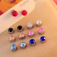 0562 circle magnet no pierced earrings magnetic feed magnet stud earring earrings