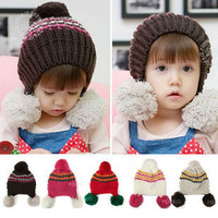 2013 New Arrival Winter Kid Caps  Hand-knitted hat, Baby Cap Children Fashion Hats Free Shipping
