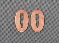 Superior Red Copper Seppa for Katana Wakizashi 2 Pieces QYP3