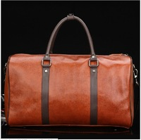 Free shipping 2013 new first layer of cowhide large genuine leather men luggage & travel bags duffle carry on bag items TB91