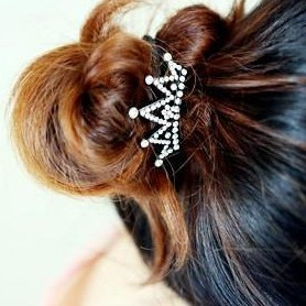 Minimal mix styles $5 New 2013 Charms Black Crown Hair Bands Jewelry Ornament A4R15 Free Shipping