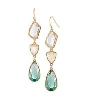 high quality 2013 design fashion crystal drop earrings for women length 7cm
