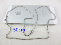 Global Free Shipping Hot Fashion Men 2.4mm Material 304 Stainless Steel Bead Chain 19.7 in. (50cm)  Dog Tag Keychain