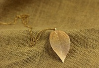 Dipped leaf long pendants sweater necklace Fashion accessories women's gold color leaves necklace (Jewelry mix order min. $10)