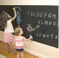 Free shipping 45cm*200cm blackboard wall sticker with 5 Free Chalks, blackboard doodle, board blackboard wall,plane wall sticker
