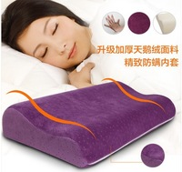 Free shipping New design zero stress healthy wave purple Anti mite cover memory pillow