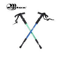 Free shipping Edith Theis 2013 alpenstocks ultralight hiking stick with flashlight 3 outdoor telescopic walking stick