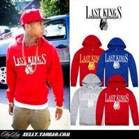2013 Autumn and Winter Last kings hat hiphop pocket shirt sweatshirt male hip-hop hiphop hoodie loose tyga