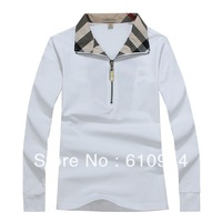 2013 New Arrive Free Shipping Women Turn Down Collar Long Sleeve Shirt With Zipper, Fashion Lady Shirt #1013-015
