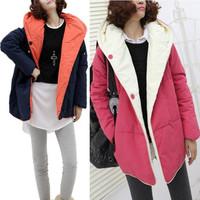 Free Shipping 2013 winter desigual cotton-padded jacket thickening overcoat autumn and winter wadded jacket coat women