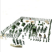 Free shipping 160 pieces/set American Big soldier Army PVC Figure Toys Set for the boys' gift