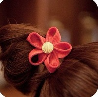 20pcs/lot Free Shipping New Arrival Hair Tie Band.Fashion Zipper Flower Hair Bands/children hair accessories/headwears