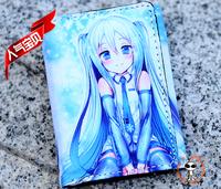 New Japanese Anime Cartoon Blue Hatsune Miku Change Purse Wallet E