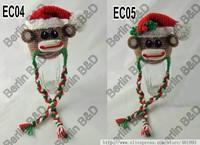 2013 New Arrives Infant Snowman Caps Handmade Crochet Newborn Baby Boy and Girl Hat Christmas Baby Hat