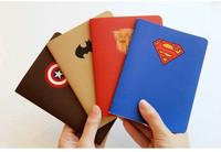The Avengers Hero Super Man Batman captain Ameria  Diary book stationery  fresh stitch book notepad notebook a6