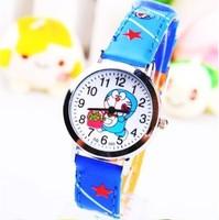 1PC Fashion Blue Doraemon A Dream Cartoon Children Girls Boys Kids Students Quartz Gifts Wrist Watches Free Shipping