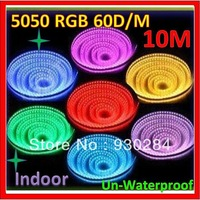 Powered 12V SMD Indoor Waterproof IP20 lights10M 5050RGB 600D/M String Flexible Suspended Ceilin Fita De Led Santa Efigenia