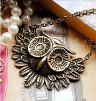 The order of at least $10(mixed order) A221 gothic style restoring ancient ways the owl necklace free shipping! !