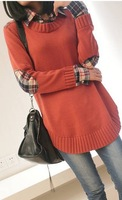 New 2013 free shipping promotion women's coat round collar pullovers qiu dong season warm hot woman cotton sweater big size
