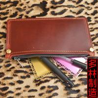 Pen curtain roll pen fountain pen lashing pencil case handmade vintage genuine leather big capacity cosmetic pencil pen