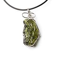 Pure natural energy moldavite pendant necklace crystal