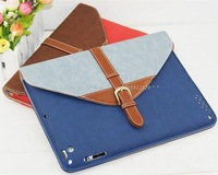 Detachable Briefcase Style 360-degree Rotating Stand Smart PU Flip Case for iPad 2 /The new iPad /iPad 4