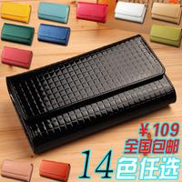 Women's wallet genuine leather Women long design wallet day clutch bag large capacity evening bag mobile phone bag