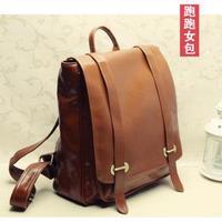 Fashion vintage casual travel computer bag  free shipping women's handbag  preppy style leather school back bag