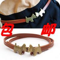 Accessories women's waist decoration dog strap fashion thin all-match belt