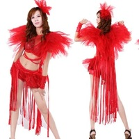 Jazz jazz dance hip-hop clothes casual hiphop female singer sexy tassel ds costume set 934