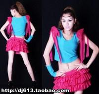 Steel pipe female singer costumes ds dance costume epaulette tassel set 959