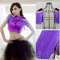Free shipping Lady gaga female ds costume fashion all-match tassel diamond handmade epaulette 8078