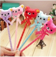 24pcs/Lot,Korean Stationery Lovely Butterfly and Bear Creative Ballpoint Pens,Gift Pens,Free Shipping,LW30124