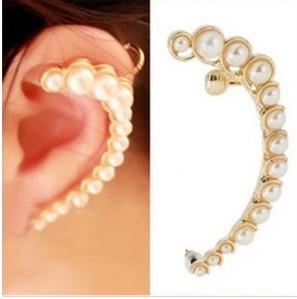 Minimal mix styles $5 Personalized Pearl Gentlewomen Earrings Stud Ear Hook Half Moon Ear Cuff Earring C5R14 Free Shipping
