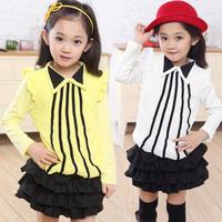 Female child t-shirt autumn gentlewomen 5 6 7 - - - - 8 9 2013 female child long-sleeve T-shirt 1007