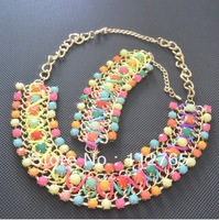 colorful handmade jewelry set / fluorescent necklace set