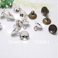 8mm bead cap DIY jewelry finding  silver antique bronze two color for choose