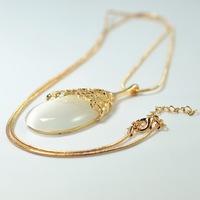(Minimum order $ 10) 2014 new hollow flower vine long drop necklace Moonstone Korean  women jewelry sweater chain X213