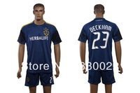free shipping MLS 2013-2014 Los Angeles Galaxy David Beckham #23 mens soccer jersey shirts uniforms embroidery customize logos